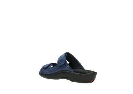 wolky slippers 1301 nepeta 680 blauw slangenprint leer_4