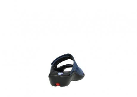 wolky slippers 1301 nepeta 680 blauw slangenprint leer_8
