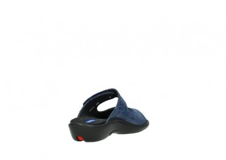 wolky slippers 1301 nepeta 680 blauw slangenprint leer_9