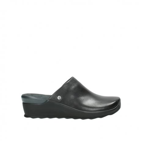 wolky slippers 2575 go 200 zwart leer