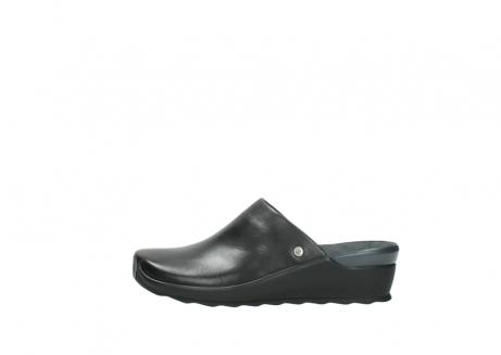 wolky slippers 2575 go 200 zwart leer_1