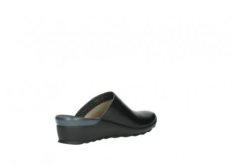 wolky slippers 2575 go 200 zwart leer_10