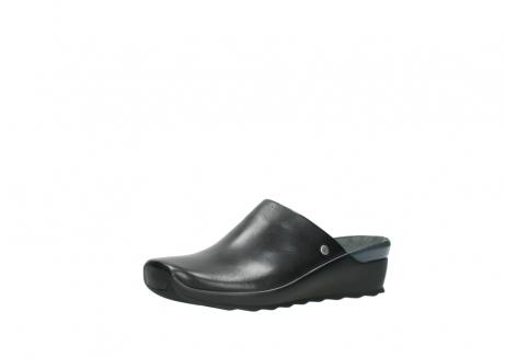 wolky slippers 2575 go 200 zwart leer_23