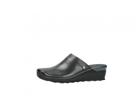 wolky slippers 2575 go 200 zwart leer_24