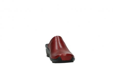 wolky slippers 2575 go 250 rood leer_18