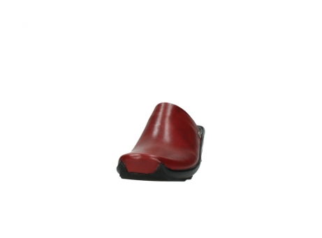wolky slippers 2575 go 250 rood leer_20
