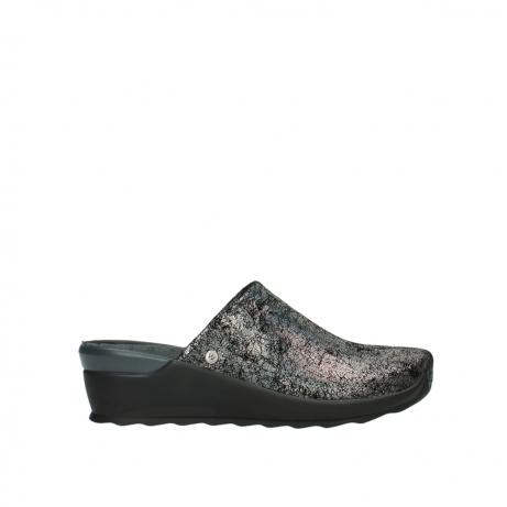wolky slippers 2575 go 428 grijs metallic suede