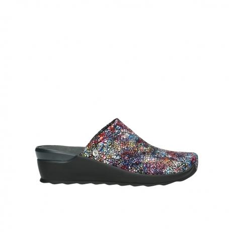 wolky slippers 2575 go 497 multi zwart metallic leer