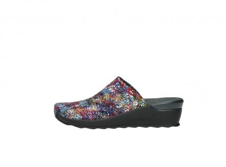 wolky slippers 2575 go 497 multi zwart metallic leer_1