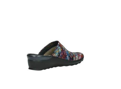 wolky slippers 2575 go 497 multi zwart metallic leer_10