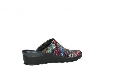 wolky slippers 2575 go 497 multi zwart metallic leer_11