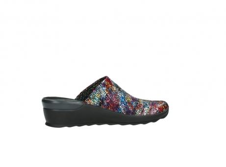 wolky slippers 2575 go 497 multi zwart metallic leer_12