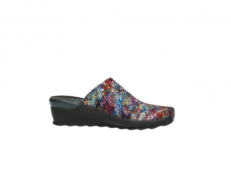 wolky slippers 2575 go 497 multi zwart metallic leer_14