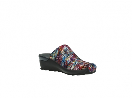 wolky slippers 2575 go 497 multi zwart metallic leer_16