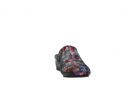 wolky slippers 2575 go 497 multi zwart metallic leer_18