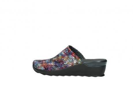 wolky slippers 2575 go 497 multi zwart metallic leer_2