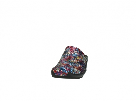 wolky slippers 2575 go 497 multi zwart metallic leer_20