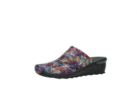 wolky slippers 2575 go 497 multi zwart metallic leer_23