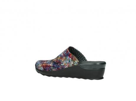 wolky slippers 2575 go 497 multi zwart metallic leer_3