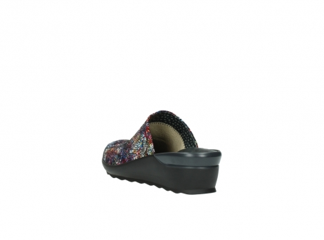 wolky slippers 2575 go 497 multi zwart metallic leer_5