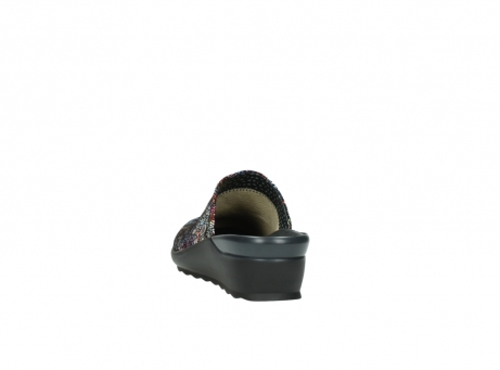 wolky slippers 2575 go 497 multi zwart metallic leer_6