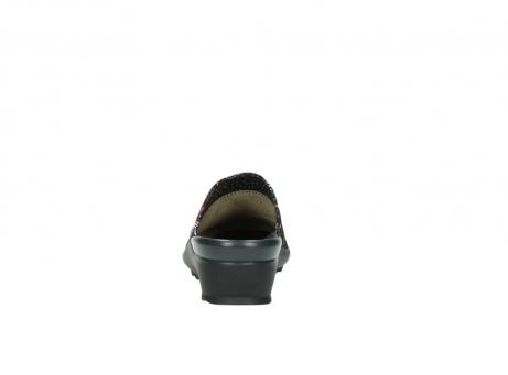 wolky slippers 2575 go 497 multi zwart metallic leer_7