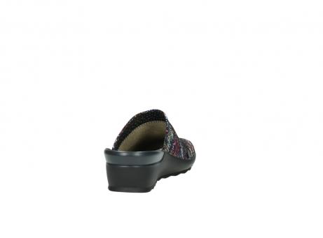 wolky slippers 2575 go 497 multi zwart metallic leer_8