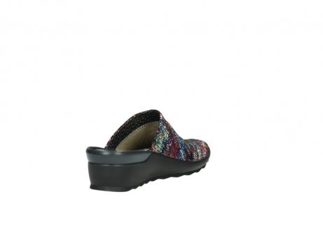 wolky slippers 2575 go 497 multi zwart metallic leer_9