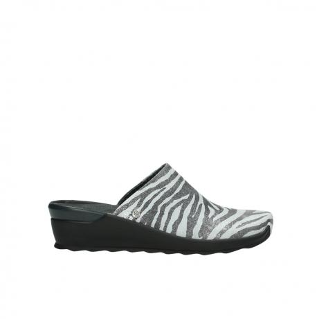 wolky pantoletten 2575 go 912 zebra print metallic leder
