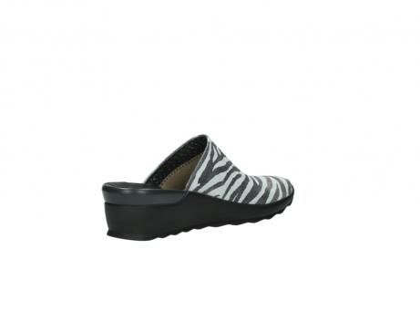 wolky pantoletten 2575 go 912 zebra print metallic leder_10