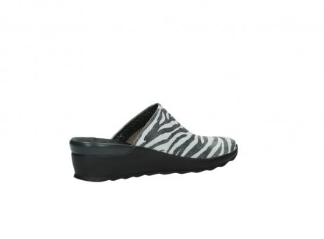 wolky pantoletten 2575 go 912 zebra print metallic leder_11