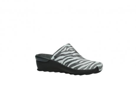 wolky pantoletten 2575 go 912 zebra print metallic leder_15
