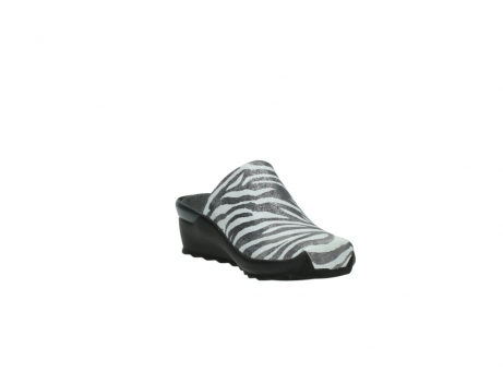 wolky pantoletten 2575 go 912 zebra print metallic leder_17