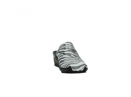 wolky pantoletten 2575 go 912 zebra print metallic leder_18