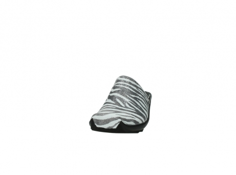 wolky pantoletten 2575 go 912 zebra print metallic leder_20