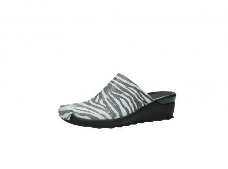 wolky pantoletten 2575 go 912 zebra print metallic leder_23