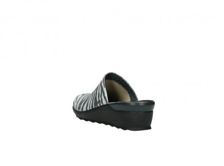 wolky pantoletten 2575 go 912 zebra print metallic leder_5