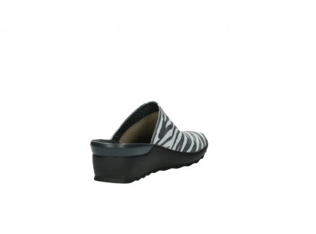 wolky pantoletten 2575 go 912 zebra print metallic leder_9