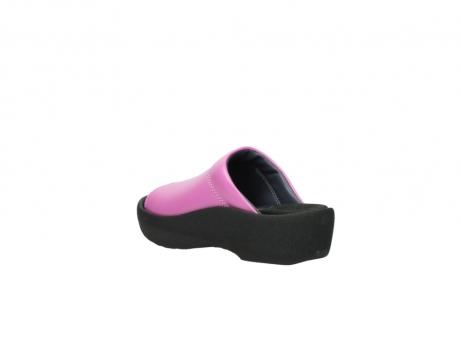 wolky slippers 3201 nassau 361 fuchsia roze leer_4