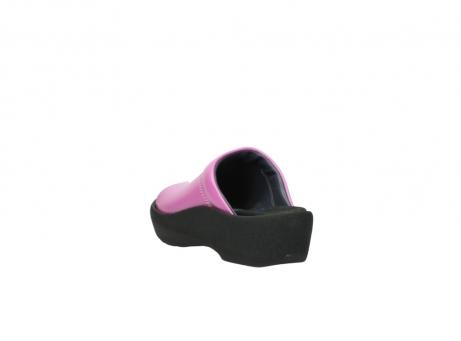 wolky slippers 3201 nassau 361 fuchsia roze leer_5