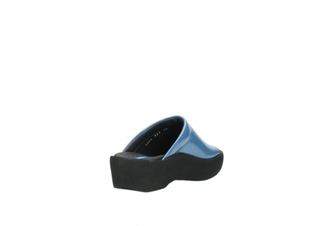 wolky slippers 3201 nassau 682 denim blauw lakleer_9