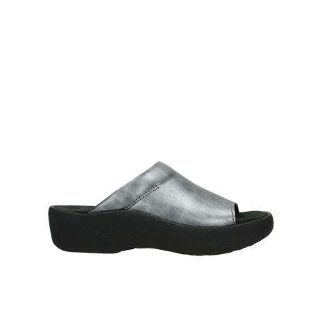 wolky slippers 3201 nassau 928 grijs metallic leer