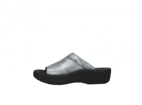 wolky slippers 3201 nassau 928 grijs metallic leer_1