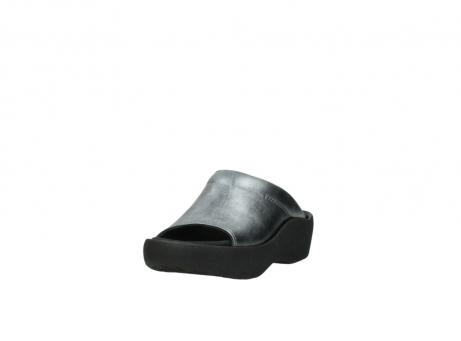 wolky slippers 3201 nassau 928 grijs metallic leer_21