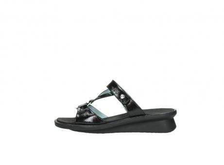 wolky slippers 3307 isa 600 zwart lakleer_1