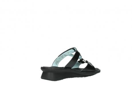 wolky slippers 3307 isa 600 zwart lakleer_10