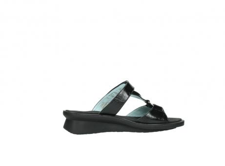 wolky slippers 3307 isa 600 zwart lakleer_12