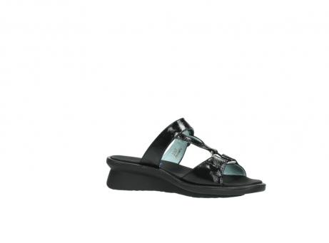 wolky slippers 3307 isa 600 zwart lakleer_15