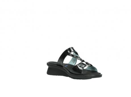wolky slippers 3307 isa 600 zwart lakleer_16