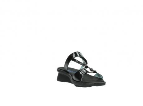 wolky slippers 3307 isa 600 zwart lakleer_17